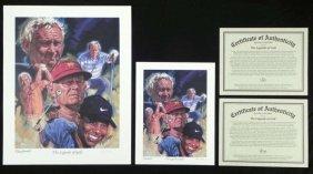 2) Robert Tanenbaum The Legends of Golf  Prints