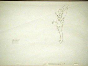 Disney Orig Drawing Tinker Bell Return to Never Land