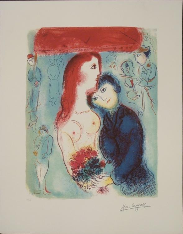 Marc Chagall : Chupa Nude Romantic Art Print