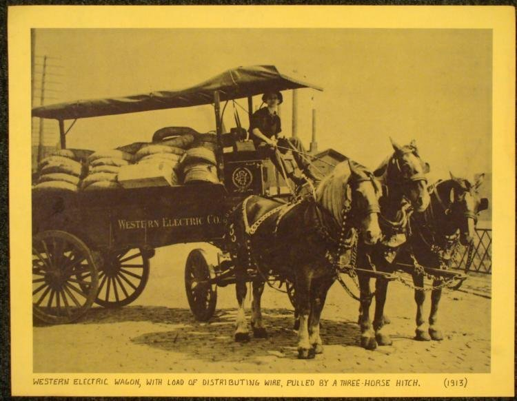 Vintage Photographic Print- Western Electric Wagon 1913