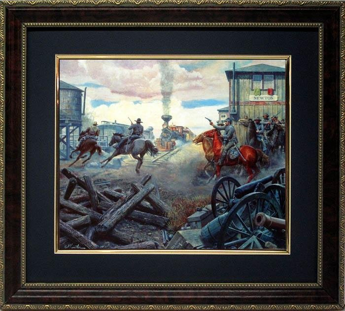 Mort Kustler Civil War Print Framed Col. Grierson