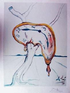 Dali Interpretation Art Print Tearful Soft Watch