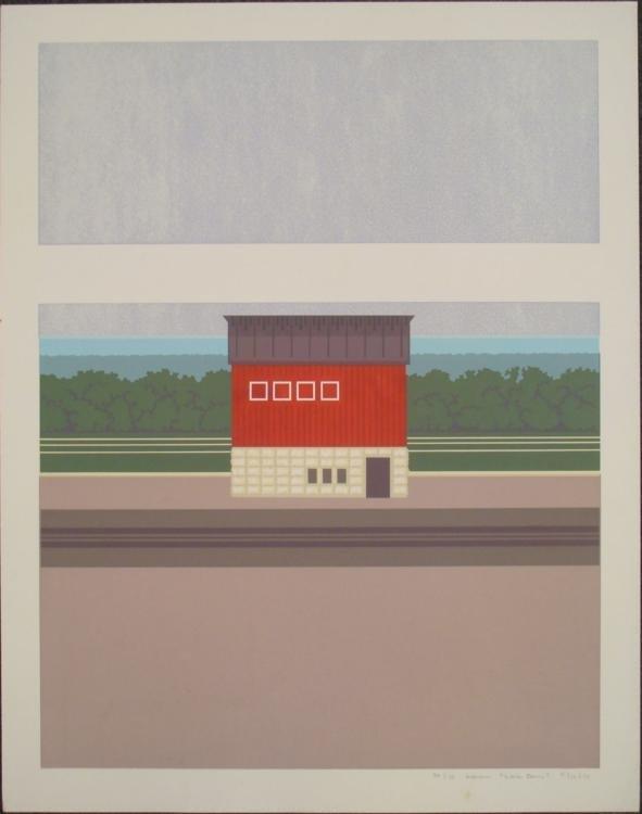 Steve Horan Signed Rural Art Print Lens Barn 1974