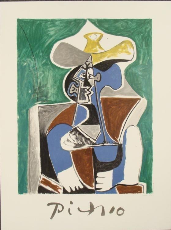 Pablo Picasso : Blue, Green & Brown Art Print