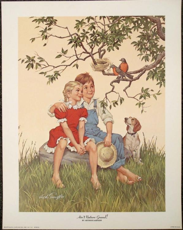 Arthur Sarnoff Ain't Nature Grand Lithograph Art Print