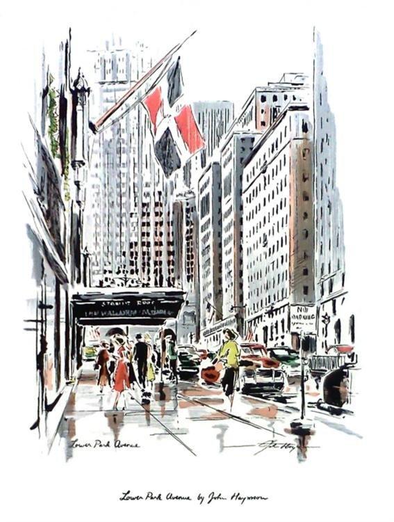 3 Different John Haymson Art Prints: New York Scenes