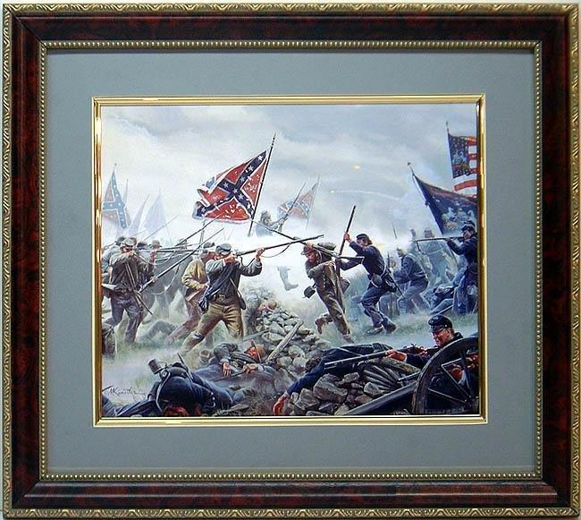 Mort Kustler Civil War Gettysburg Print Framd High Tide