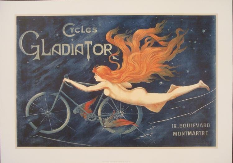 Georges Massias Cycles Gladiator Nouveau Bicycle Poster