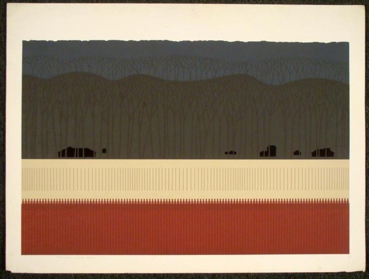 Steve Horan Signed Art Print Winter Haven 1976