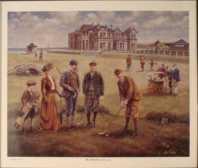 Lee Dubin : St. Andrews Golf Course Art Print