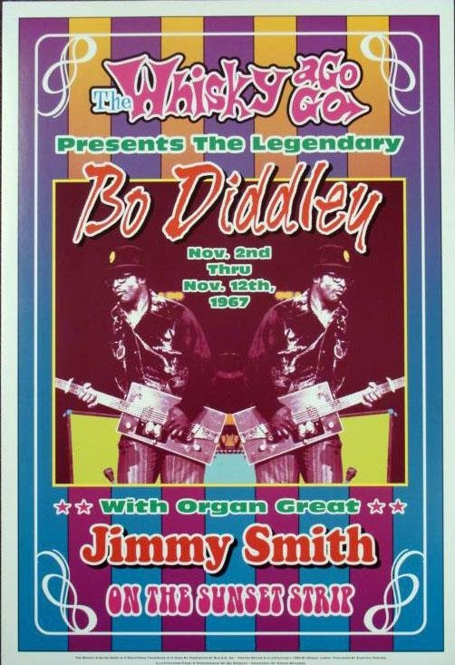 5 Soul & Blues Repro Concert Posters Bo Diddley, Wilson - 6
