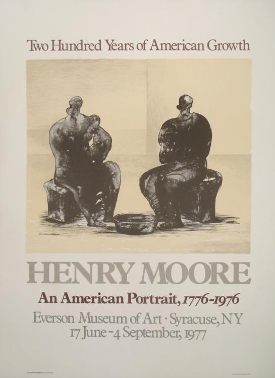 Henry Moore Mourlot Art Exhibit Poster American 1977