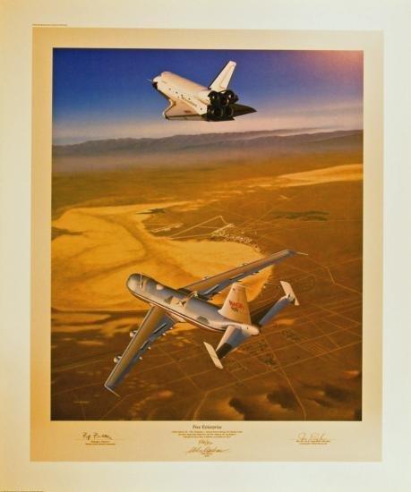 Aviation Art Free Enterprise Machat Shuttle 747