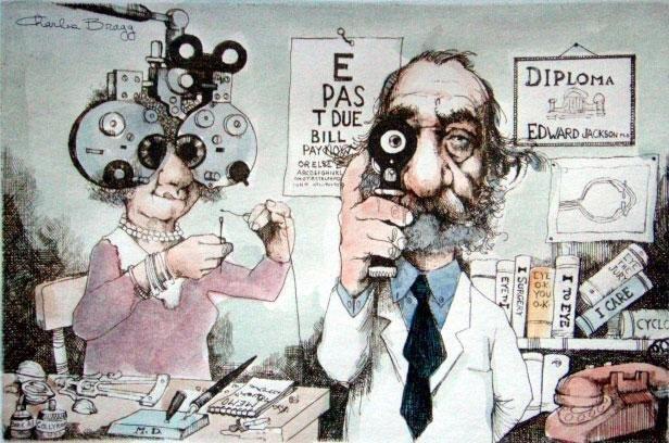 Charles Bragg Signed Medical Art Print Ophthalmologist