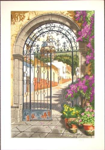 Juan Medina GATEWAY TO THE VILLAGE Landscape Art Print
