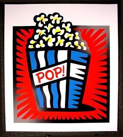 HUGE Pop Art Burton Morris AMERICAN POP RED S/N Print