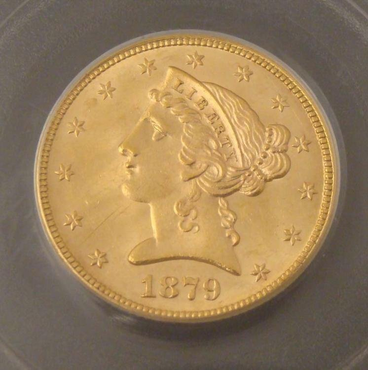 1879 Gold $5 Coin PCGS MS 63 - 2