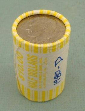 1980-D Bank Roll Kennedy Halves Half Dollars Coins UNC