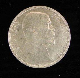 Czechoslovakia 20 Korun Silver Coin 1937 UNC