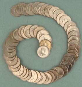 52 Different Kennedy Halves Half Dollars 1971-2001