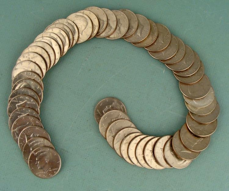 49 Diff Date Kennedy Halves 1971-2001 Half Dollar Set