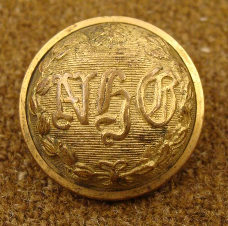New Haven Grays Civil War Military Gold Antique Button