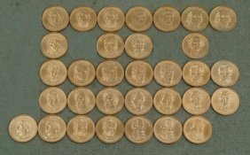 32 Coin Presidential Dollar Set UNC 2007-2011