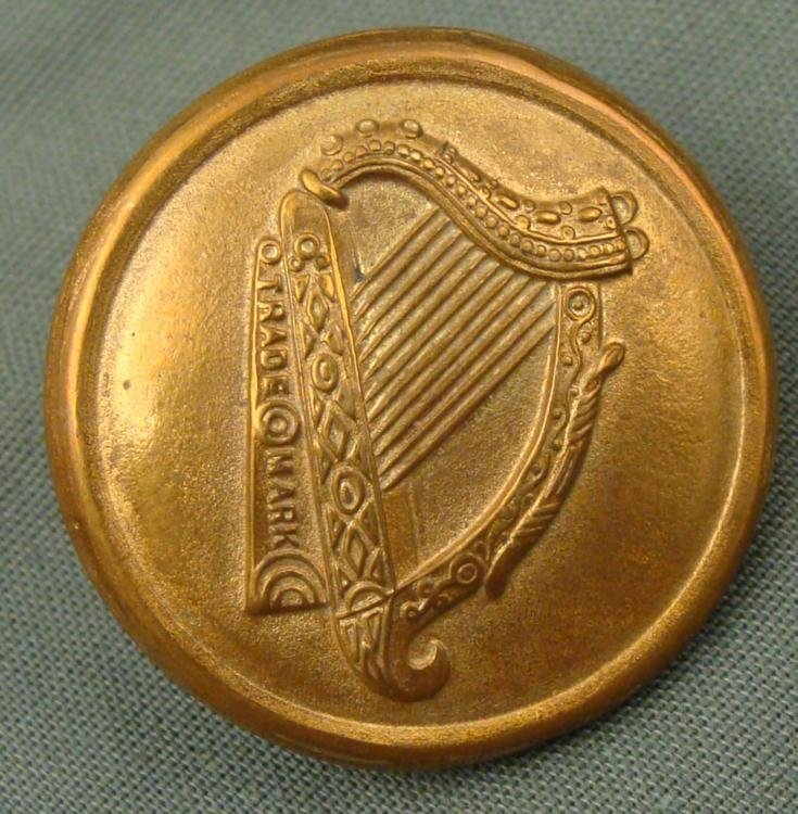 Irish Harp Brass Button Guinness -Alexa Comyns & Son