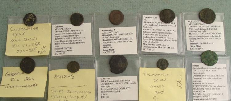 10 Ancient Roman Coins- Gratian Honorius Arcadius