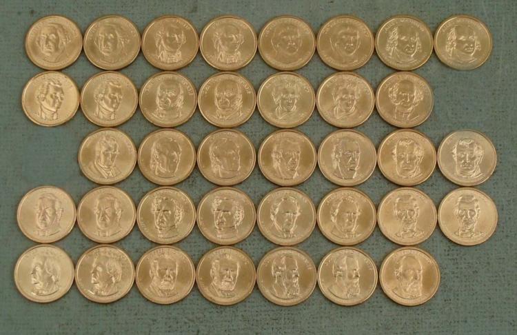 37 Coin Presidential Dollar Set UNC 2007-2011