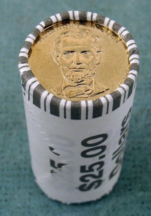1 Bank Roll 2010-P UNC Lincoln Presidential Dollars