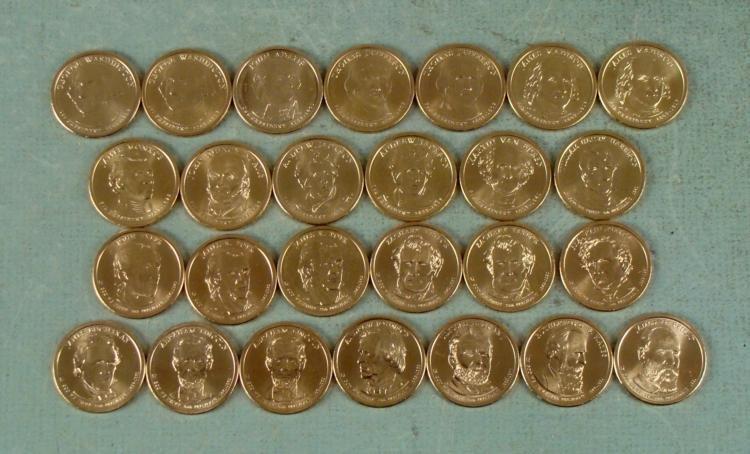 26 Coin Presidential Dollar Set GEM UNC 2007-2011