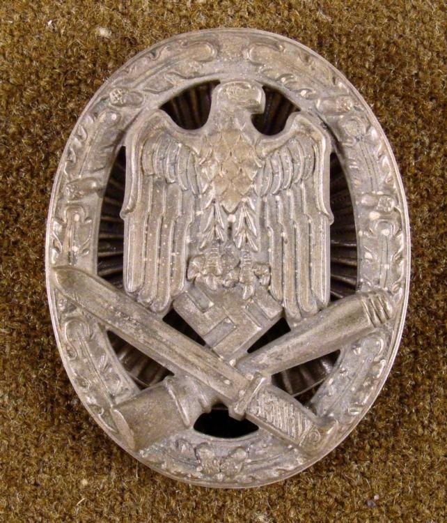 Nazi WWII General Assault Badge Screw Back