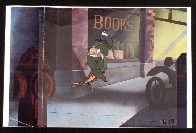 Original Ratigan Animation Cel Great Mouse Detective
