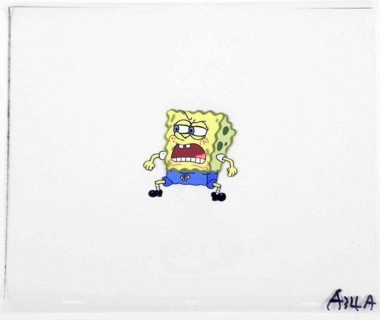 Production Spongebob Original Dirty Mouth Cel Art