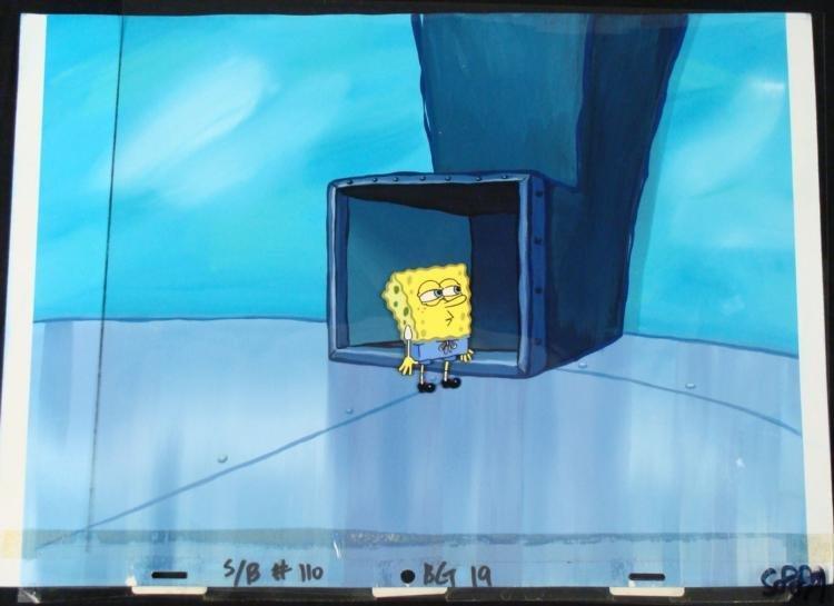 Original SpongeBob Production Cel & Background Chute