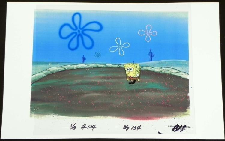 Orig SpongeBob Animation Cel & Background House?