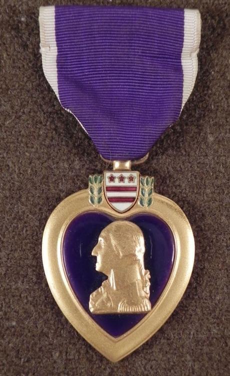 NAMED WWII U.S. PURPLE HEART MEDAL