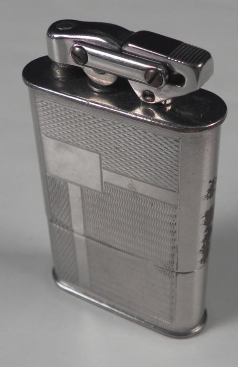 PRE-NAZI GERMANY ART-DECO SILVER LIGHTER D.R.P. MARKED