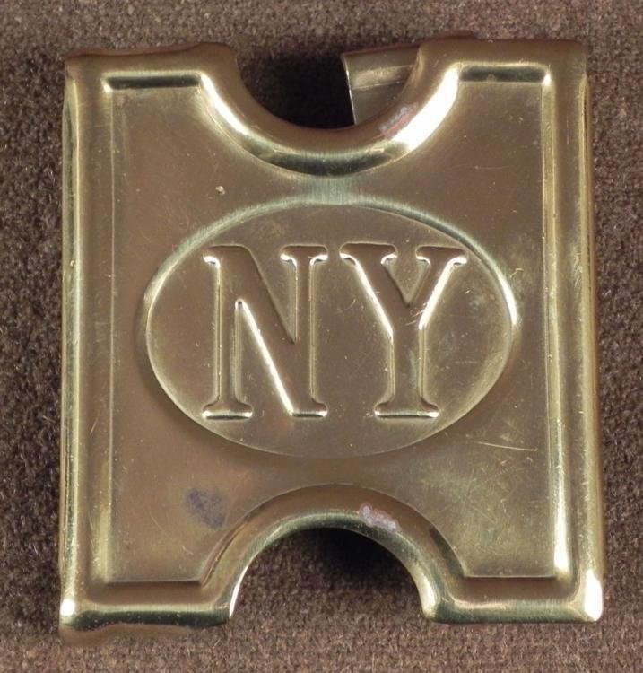NEW YORK VOLUNTEERS SPAN-AMER WAR CARTRIDGE BELT BUCKLE