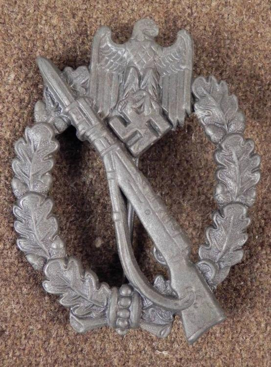 WWII WARTIME ORIGINAL NAZI INFANTRY ASSAULT AWARD BADGE