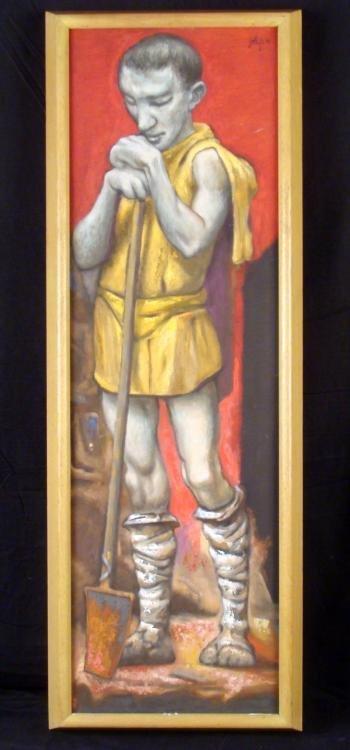 Classical Roman Figure Original Painting Framed