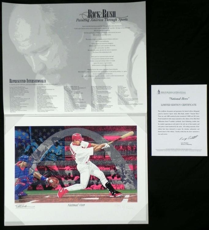 Rick Rush National Hero Signed and Numbered Print