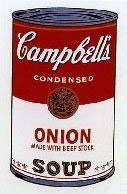 Warhol Print Sunday B Morning Campbell's Soup Can Onion