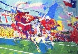 Texas Longhorns LeRoy Neiman Signed LE This is No Bull