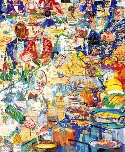 LeRoy NEIMAN Signed International Cuisine Art Print