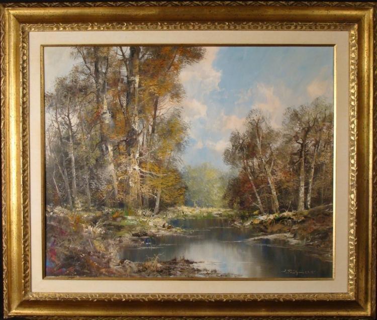 Joseph Fruhmesser Original Autumn Landscape Painting