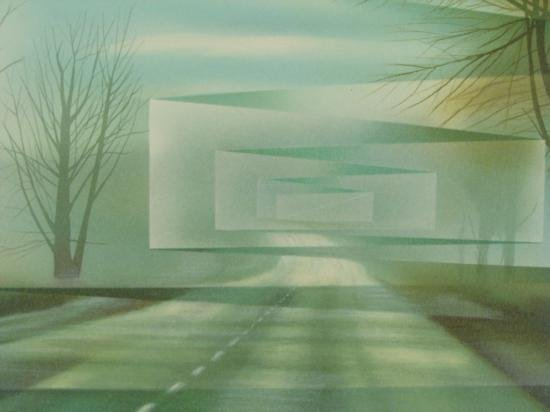 Frank Licsko ROADS Signed Surreal Landscape Art Print - 2