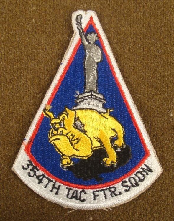 VIETNAM ERA 354 TACTICAL FIGHTER SQUADRON PATCH