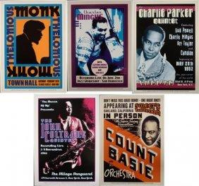 5 Famous Jazz Concert Repro Posters Basie Monk Coltrane